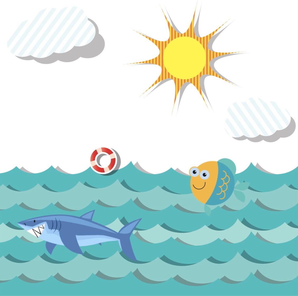 """7月は""""Sea animals/Fish/Shark"""" 海の生き物です"""